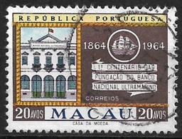 Macao Macau – 1964 Banco Nacional Ultramarino Used Stamp - Macao