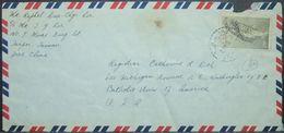 Taiwan - Airmail Cover To USA 1958 Map $2 Solo - 1945-... République De Chine