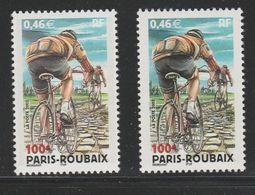 """Paris-Roubaix YT 3481 Avec """"pavés Roses"""" + Normal . Pas Courant , Voir Le Scan . Cote Maury N° 3463 + 3463a : 9.30 € . - Variedades: 2000-09 Nuevos"""