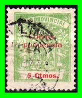 CADIZ.. SELLO 5 CÉNTIMOS. DIPUTACIÓN PROVINCIAL DE CÁDIZ. PROVINCIAL. CORRESPONDENCIA. GUERRA CIVIL. 1936-39 - Steuermarken/Dienstpost
