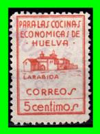 HUELVA 5 CENTIMOS NARANJA PAPEL ORD. SOFIMA PARA LAS COCINAS ESCOMICAS DE ESPAÑA - Steuermarken/Dienstpost