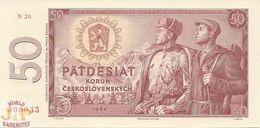 CZECHOSLOVAKIA 50 KORUN 1964 PICK 90b UNC - Cecoslovacchia