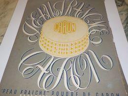ANCIENNE PUBLICITE POUDRE PEAU FRAICHE  CARON PARIS 1943 - Parfum & Kosmetik