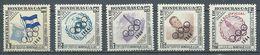 Honduras Poste Aérienne YT N°307/311 Nations Unies Surchargé Jeux Olympiques De Tokyo 1964 Neuf ** - Honduras