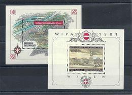 Austria Year 1981 WIPA 1981 International Stamp Exhibition + Bl. 8 MNH ** - 1945-.... 2ª República