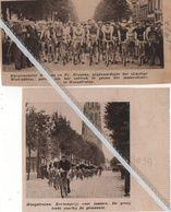 HOOGSTRATEN..1934.1937. KERMISKOERS VOOR JUNIORS / BURGEMEESTER BROSENS EN FR.BROSENS GEREED OM HET VERTREK TE GEVEN - Ohne Zuordnung
