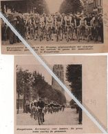 HOOGSTRATEN..1934.1937. KERMISKOERS VOOR JUNIORS / BURGEMEESTER BROSENS EN FR.BROSENS GEREED OM HET VERTREK TE GEVEN - Old Paper