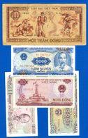 Viét -nam  100 D'ong  1950  +  4  Billets - Vietnam