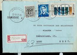 Doc. De LEDEBERG - A A - Du 22/10/71 En Rec. - Postmark Collection