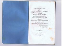 MACRI ANSELMO - CENNO FISICO-CHIMICO SULL'ACQUA MINERALE FREDDA SCOPERTA A NORD-EST DI SALERNO - 1827 - Libros, Revistas, Cómics