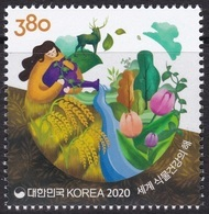 South Korea 2020 International Year Of Plant Health, Plants And Life On Earth, Deer - Korea, South