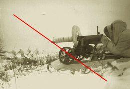 Photo 1939-45 Armee Russe Armee Rouge Maxim Mitraileuse - 1939-45
