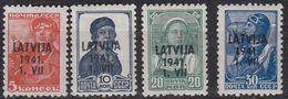 GERMANY REICH Besetzung [Lettland] MiNr 0001 Ex ( **/mnh ) [01] - Occupation 1938-45