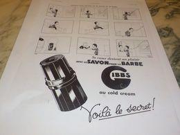 ANCIENNE PUBLICITE SAVON POUR LA BARBE GIBBS 1935 - Parfums & Beauté