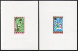 SENEGAL (1970) Colonization. Set Of 2 Deluxe Sheets. Scott Nos C92-3, Yvert Nos PA98-9. - Senegal (1960-...)