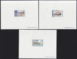 CAMBODIA (1968) Royal University. Set Of 3 Deluxe Sheets. Scott Nos 188-90, Yvert Nos 203-5. - Cambodge