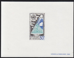 SENEGAL (1968) Weather Balloon. Vegetation. Deluxe Sheet. World Meteorology Day. Scott No C62, Yvert No PA64. - Senegal (1960-...)