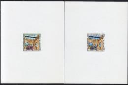 DAHOMEY (1962) Fort Ouidah. Set Of 2 Deluxe Sheets. Scott Nos 153-4, Yvert Nos 172-3. - Bénin – Dahomey (1960-...)