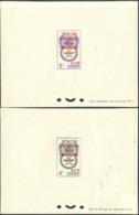 CAMBODIA (1963) Mosquito. Malaria Eradication. Set Of 2 Deluxe Sheets Overprinted For Red Cross Centenary. Scott B11-2. - Cambodge