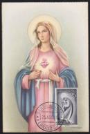 FERNANDO POO (1960) Virgin Mary. Maximum Card With First Day Cancel. Scott No 181. - Fernando Po