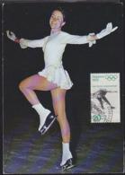 GERMANY (1971) Figure Skating. Maximum Card With Thematic Cancel. Scott No B473, Yvert No 545. Sapporo Olympics. - Cartas Máxima