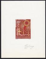 IVORY COAST (1963) Radio Masts. UAMPT Emblem. Deluxe Sheet. Scott No C25, Yvert No PA29. - Côte D'Ivoire (1960-...)