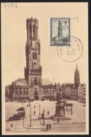 BELGIUM (1939) Bruges. Maximum Card With First Day Cancel. Scott No B256. - 1934-1951