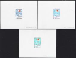 CAMBODIA (1967) Hydrological Decade. Set Of 3 Deluxe Sheets. Scott Nos 185-7, Yvert Nos 200-2 - Cambodge