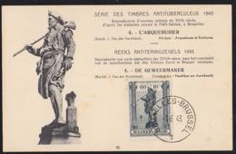 BELGIUM (1943) Gunsmith. Maximum Card With First Day Cancel. Scott No B349. - 1934-1951