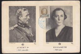 BELGIUM (1926) Albert I. Maximum Card With First Day Cancel. Scott No 145. - Maximum Cards