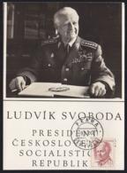 CZECHOSLOVAKIA (1968) Ludwig Svoboda. Maximum Card With First Day Cancel. Scott No 1541. - Andere