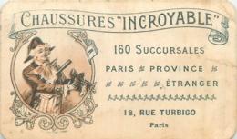 CHROMO  DOUBLE FACE CHAUSSURES INCROYABLE ET PARFUMERIE DE LA SOCIETE HYGIENIQUE - Trade Cards