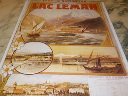 ANCIENNE  PUBLICITE LE LAC LEMAN - Publicidad