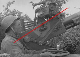 Photo 1939-45 Russie 1941soldat Russe Dca 20 Mm - 1939-45
