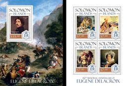 Salomon 2014, Art, Delacroix, Horse, 4val In BF+BF - Künste
