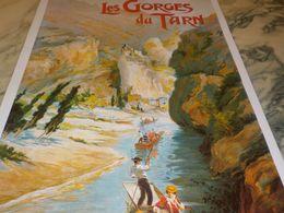 ANCIENNE  PUBLICITE LES GORGES DU TARN - Publicidad