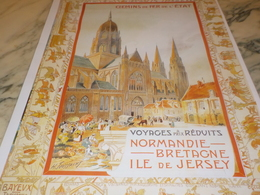 ANCIENNE  PUBLICITE NORMANDIE BRETAGNE ILE DE JERSEY - Autres