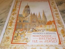 ANCIENNE  PUBLICITE NORMANDIE BRETAGNE ILE DE JERSEY - Publicidad