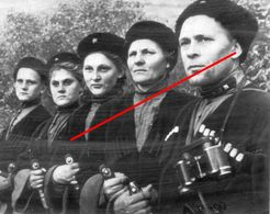 Photo 1939-45 Russie  Soldat Russe Armee Rouge Cosaque Homme Et Femme - 1939-45