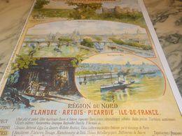 ANCIENNE  PUBLICITE REGION DU NORD FLANDRE-ARTOIS-PICARDIE-ILE DE FRANCE - Publicidad