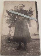 1914 Zouave 2 Eme Régiment Adjudant Ceinturon Casernement Oran Tranchée 14 18 Poilu WW1 2 Cartes Photos - War, Military
