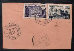 TUNISIE - SAINTE MARIE DU ZIT / 1957 OBLITERATION SUR FRAGMENT (ref 2377) - Tunesien (1956-...)
