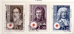 1936 - FINLANDIA - Mi. Nr. 194/196 - USED -  (UP.70.46) - Finlande