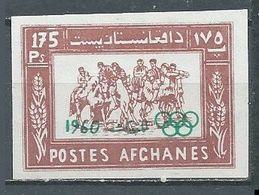 Afghanistan YT N°515a Bouzkachi Sport National Surchargé Jeux Olympiques De Rome 1960 NON DENTELE Neuf ** - Afghanistan