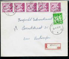 Doc. De LEBBEKE - C 1 C - Du 15/01/71 En Rec. - Postmark Collection