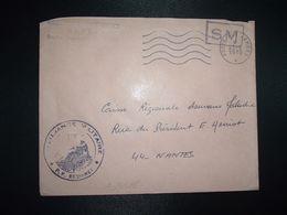 LETTRE OBL.MEC.23-6 1970 POSTE AUX ARMEES DIRECTION DE L'INTENDANCE De La 3e R.M. RENNES (35) INTENDANCE P.F. BEGUINET - Postmark Collection (Covers)