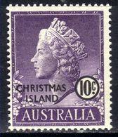 Christmas Island Australia 1958 QE2 10ct Violet Umm SG 6 ( R208 ) - Christmas Island