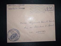 LETTRE OBL.MEC.1-4 1970 POSTE AUX ARMEES DIRECTION DE L'INTENDANCE De La 3e R.M. RENNES (35) INTENDANCE P.F. BEGUINET - Postmark Collection (Covers)
