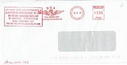 1997 - Oblit. Machine  SMH Alcatel Type R - Direction Du Commissariat De L'Air Région Nord-Est - Base Aérienne 107 - Postmark Collection (Covers)