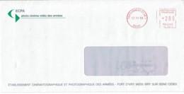 1993 - Oblitération Machine à Affranchir SECAP SL - PARIS ARMEES 01 AN. 1 (Photo Cinéma Des Armées) - Postmark Collection (Covers)